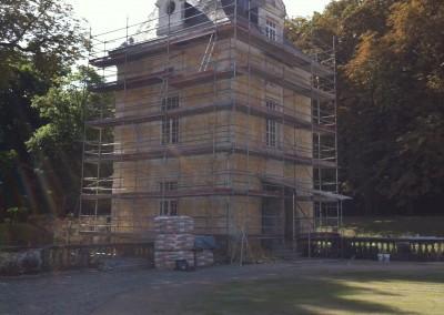 Rénovation extérieur d'une tour de château