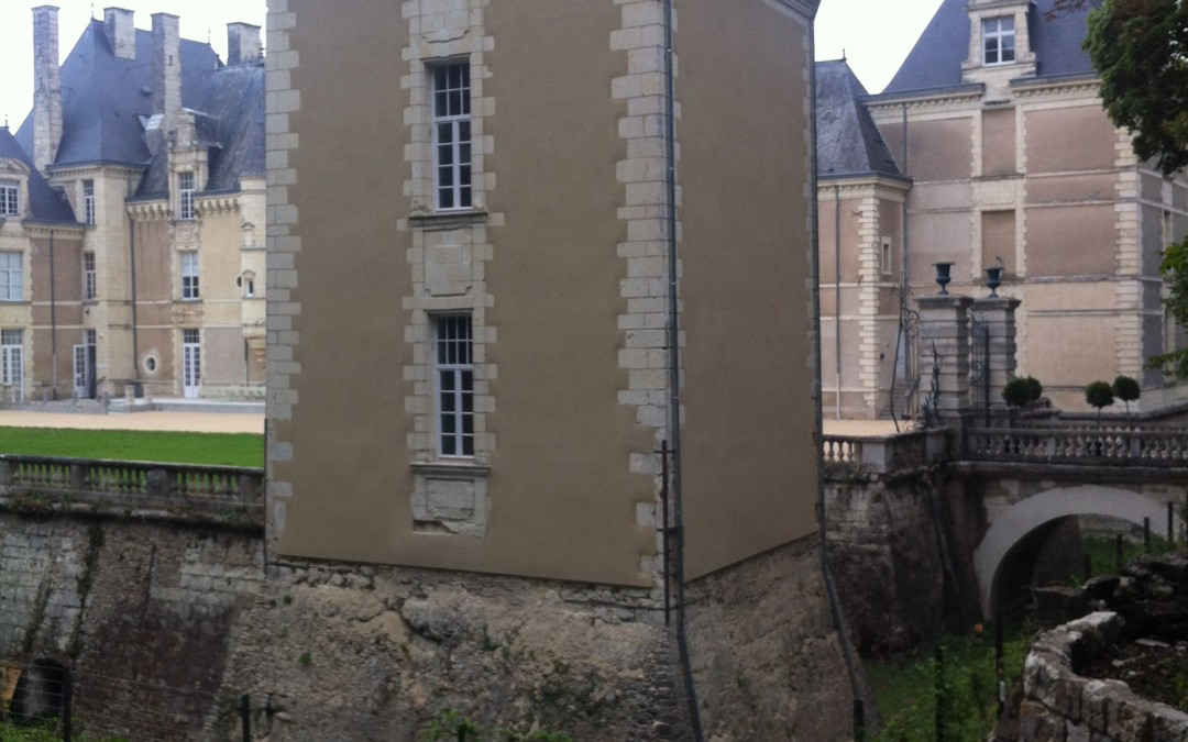 rénovation château, ravalement