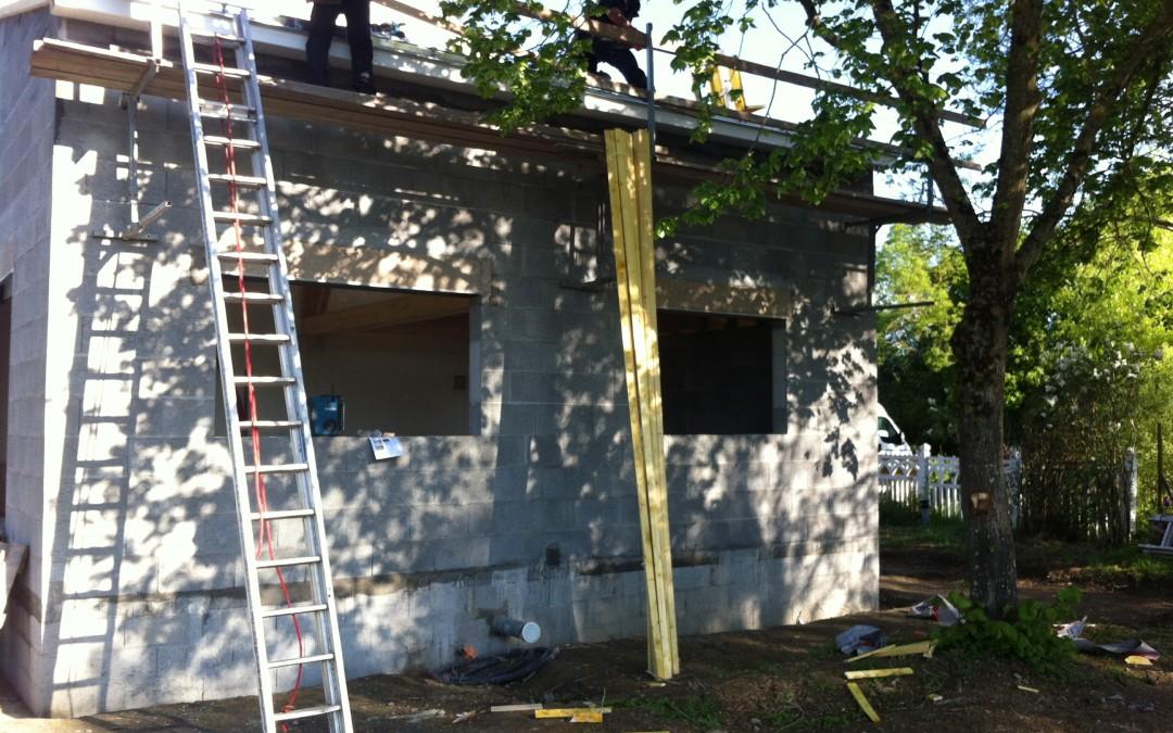 agrandissement maison, charpente, couverture