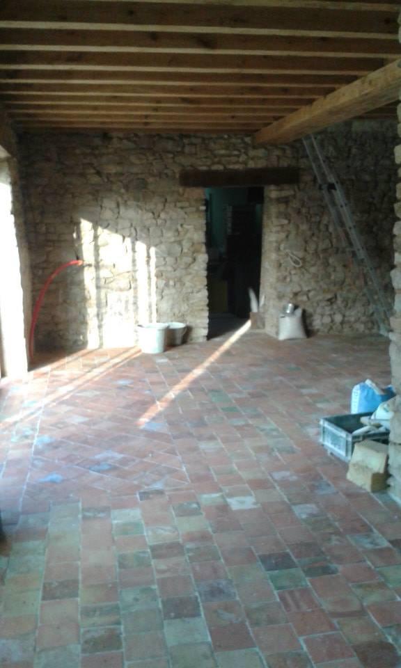 longère, rénovation maison, carrelage
