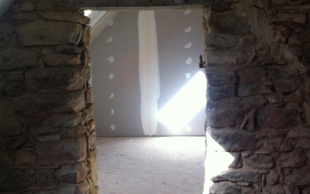 longère, rénovation maison, placo