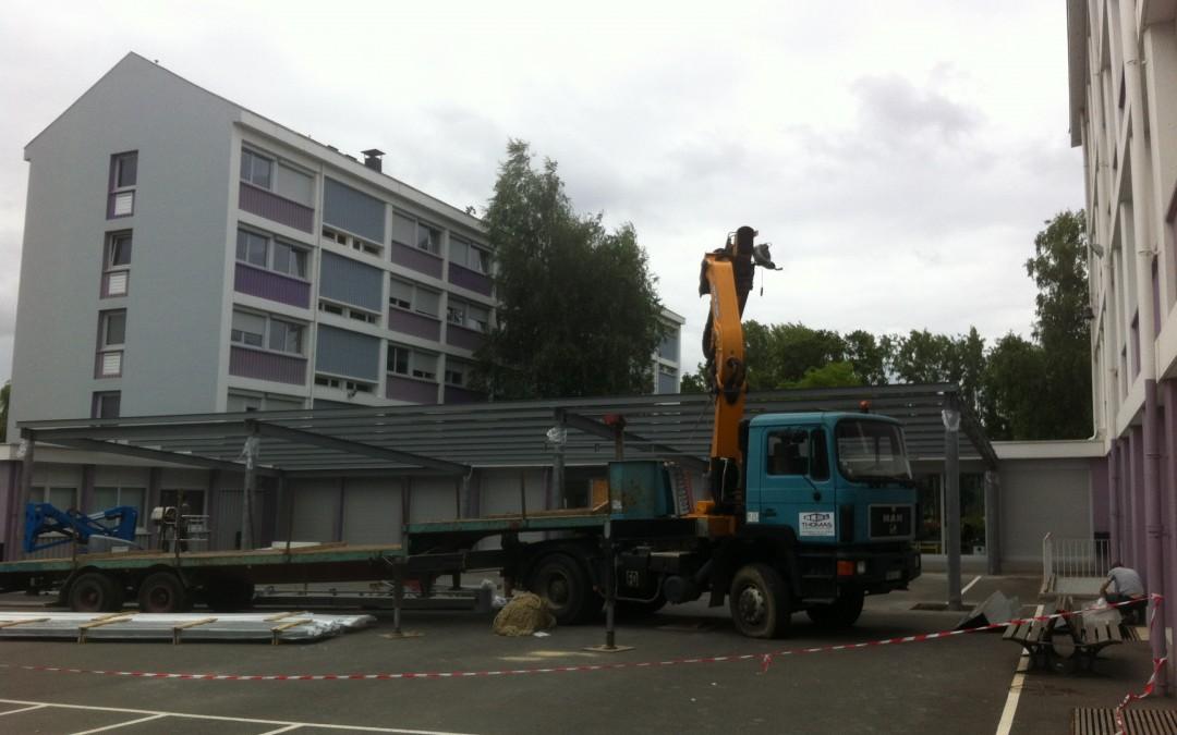 Construction d'un préau