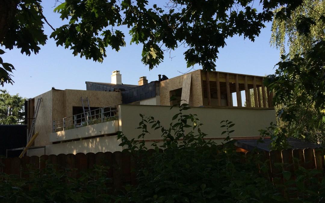 agrandissement maison en ossature bois